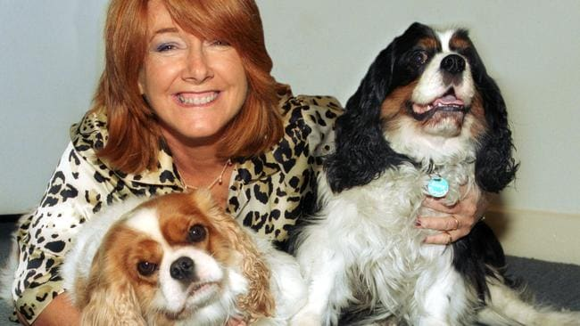 Suzie Howie with her dogs Nancy and Harry.