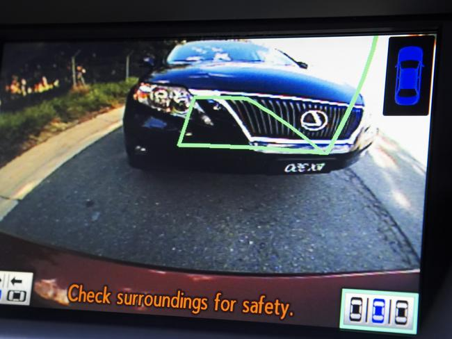 Getting a better look ... the rear view camera can help drivers more than we might imagine.