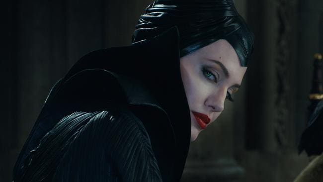 Favours a villain ... Angelina Jolie always wanted to be Maleficent rather than the princess, Sleeping Beauty.