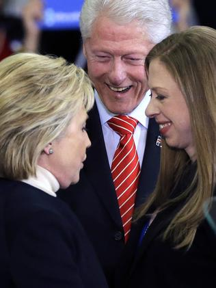 The Clinton legacy is proving as much of a curse as a blessing for Hillary Clinton, who is seen as firmly entrenched in establishment politics. Picture: AP Photo/Elise Amendola.