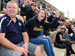 A large crowd gathered Aldinga to watch the Sharks battle Marion at Shark Park. Picture: Mark Brake