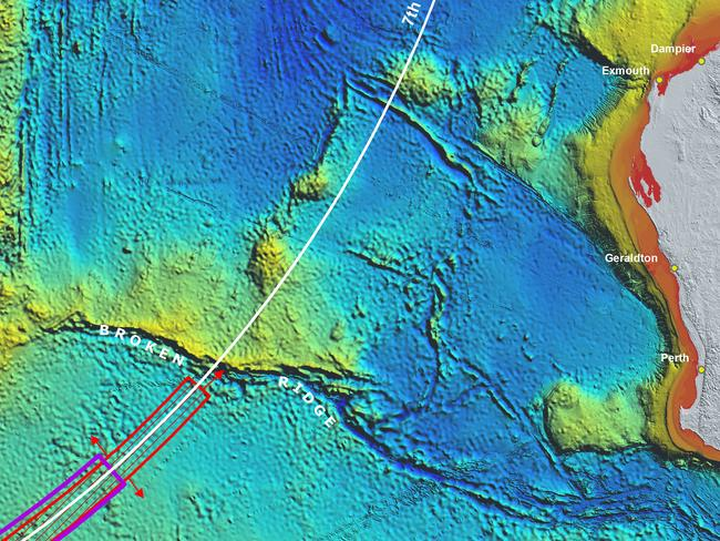 MH370 revised search area following Bayseian analysis