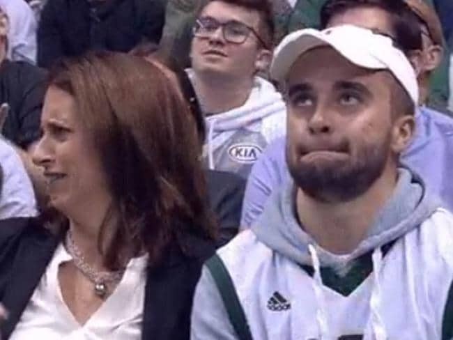 Kiss cam's horror viral moment