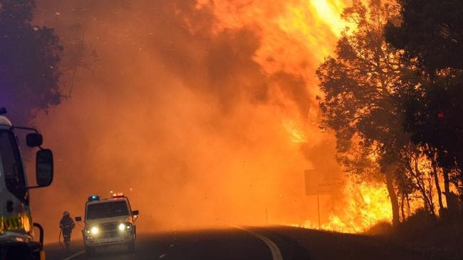 Yarloop in Western Australia was hit with disastrous fires in January. Picture: EPA/Department of Fire and Emergency Services