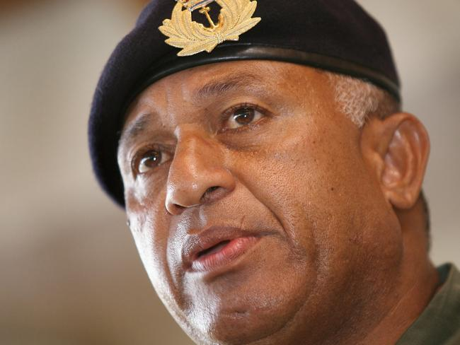 "Fiji military leader Voreqe Bainimarama has slammed Australia for its ""selfish"" response to climate change."