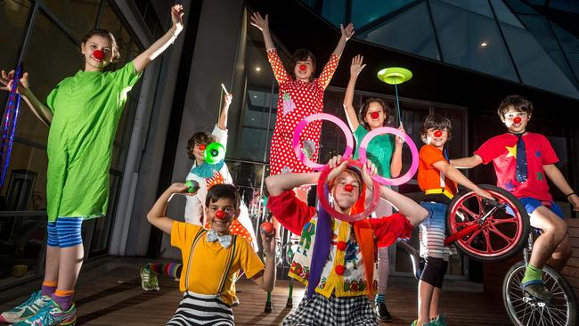 Clowning around at the National Institute of Circus Arts. Picture: Hamish Blair