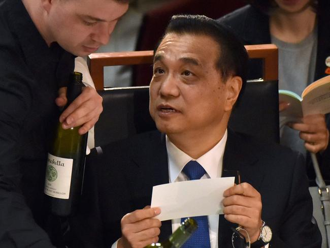 China's Premier Li Keqiang and PM Malcolm Turnbull will hold bilateral talks in Canberra tomorrow covering trade, regional stability, tourism and even Australian wine exports. Picture: AFP Photo/ Mark Graham
