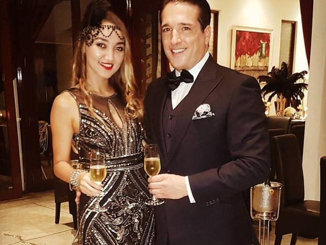 Dutch model Ivana Smit plunged to her death after partying with US cryptocurrency trader Alexander Johnson and his wife Luna (above). Picture: Facebook