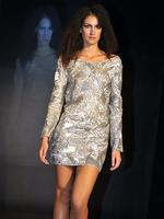 A Ruth Tarvydas design on the catwalk. Picture: Alf Sorbello