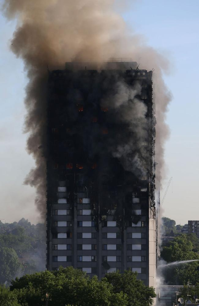 At least 80 died in the Grenfell Tower blaze in June. Picture: AFP