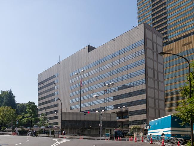 The US embassy in Tokyo, Japan, where the Ethiopian woman said she was kept a sex slave by the Australian husband of US Diplomat Linda Howard.