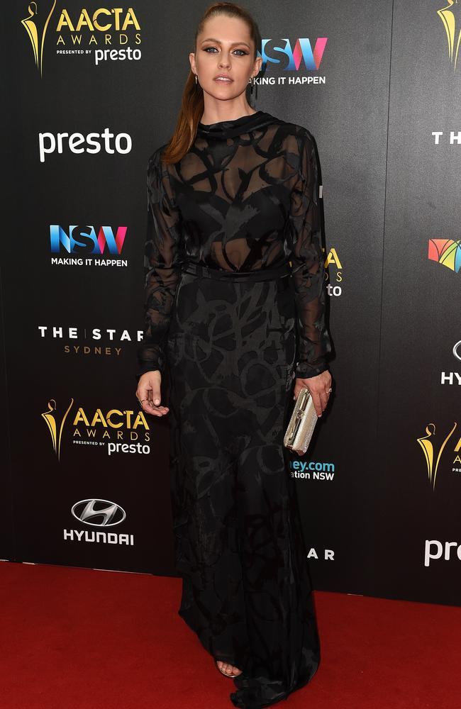 Teresa Palmer arrives ahead of the 5th AACTA Awards Presented by Presto at The Star on December 9, 2015 in Sydney, Australia. Picture: AAP