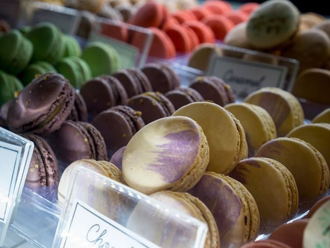 Macarons at a bakery in New York. Photo: Richard Levine/Corbis via Getty Images.
