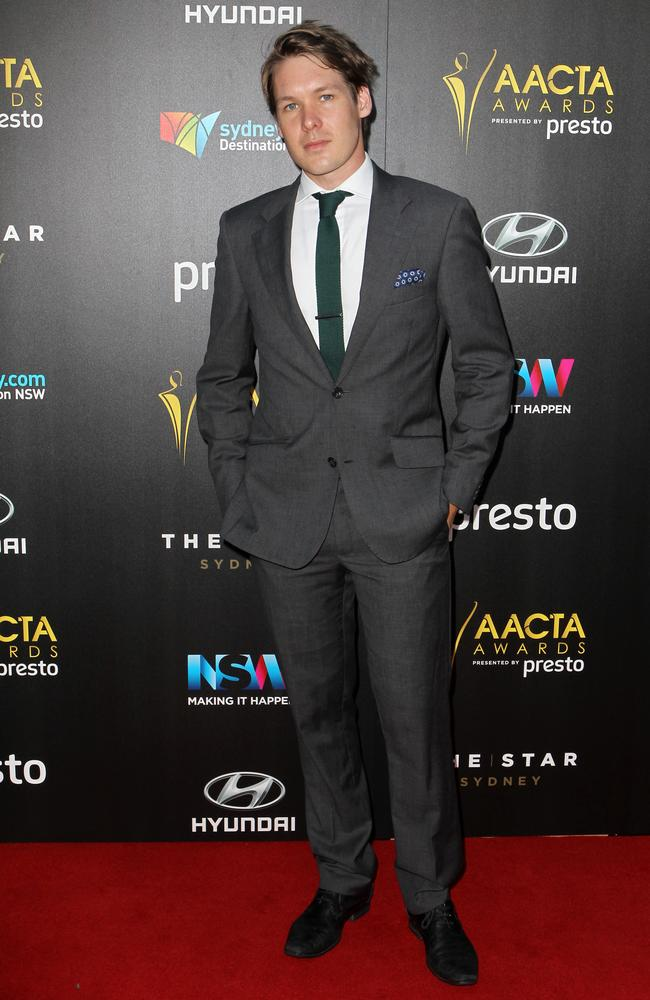 Alex Williams arrives ahead of the 5th AACTA Awards Presented by Presto at The Star on December 9, 2015 in Sydney, Australia. Picture: Christian Gilles