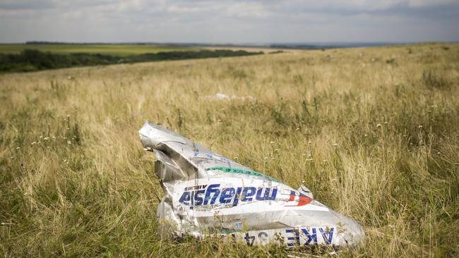 Wreckage from Malaysia Airlines flight MH17 lies in a field on in Grabovo, Ukraine. Picture: Rob Stothard
