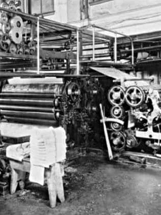 An early printing press.