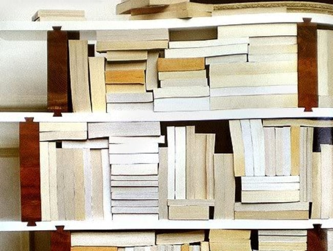 Sure, it looks nice and clean, but good luck trying to find that book you're looking for. Picture: Pinterest