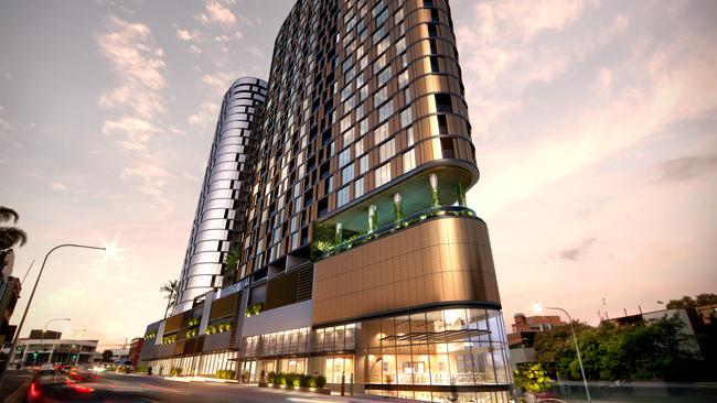 The recently approved Flatiron building in Brisbane's Fortitude Valley.