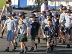 Veterans, Girl Guides, Scouts and school children marched through Salisbury ahead of the Salisbury RSL Sub-Branch Anzac Day service at 8am. Photos: Kristy Muir/The Southern Star