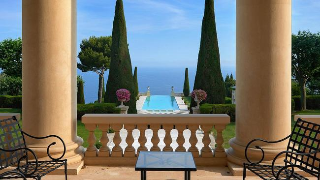 There are views from the property across the Bay of Cannes. Picture: TopTenRealEstate.