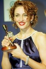 "Winner of the Gold Logie Award 2001. Georgie Parker in ""All Saints"", Seven Network."