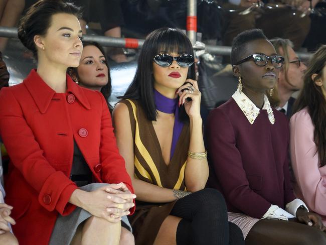 Margot Robbie, Rihanna and Lupita Nyong'o attend the Miu Miu show as part of the Paris Fashion Week.