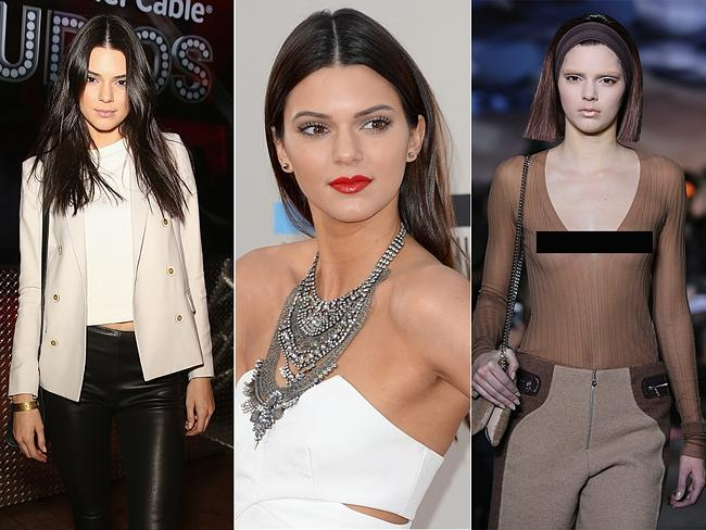 Model Transformations at New York Fashion Week 2014. Kendall Jenner walked the runway for Marc Jacobs looking almost unrecogn...