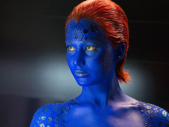 Jennifer Lawrence in the new X-Men film.