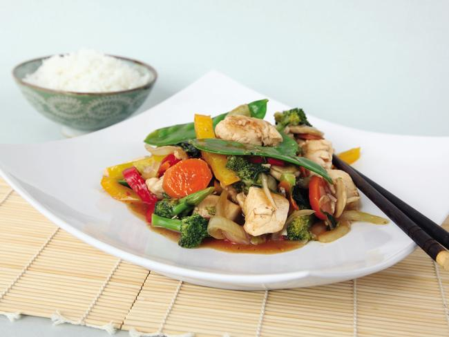 SUNDAY TELEGRAPH SPECIAL. Eat Like Your Nan Diet. Chicken Basil Stir Fry Eat Like Your Nan old-school diet, by Annette Sym.