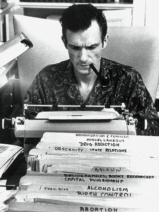 Hefner working in Chicago in 1960.