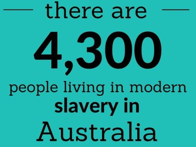 The Salvation Army and The Freedom Partnership to End Modern Slavery. Picture: Red Cross