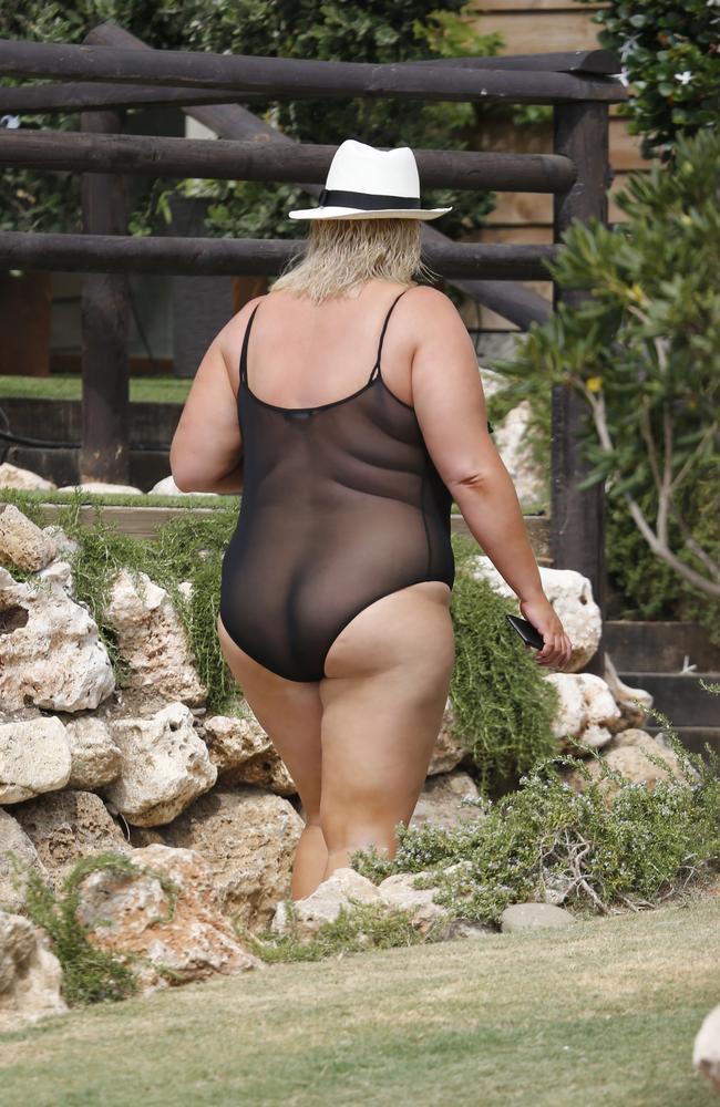 """Why shouldn't a plus size girl wear mesh?"" Picture: Flynet Pictures/Splash"
