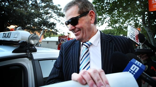 Peter Slipper leaving court earlier this week. Picture: Craig Greenhill