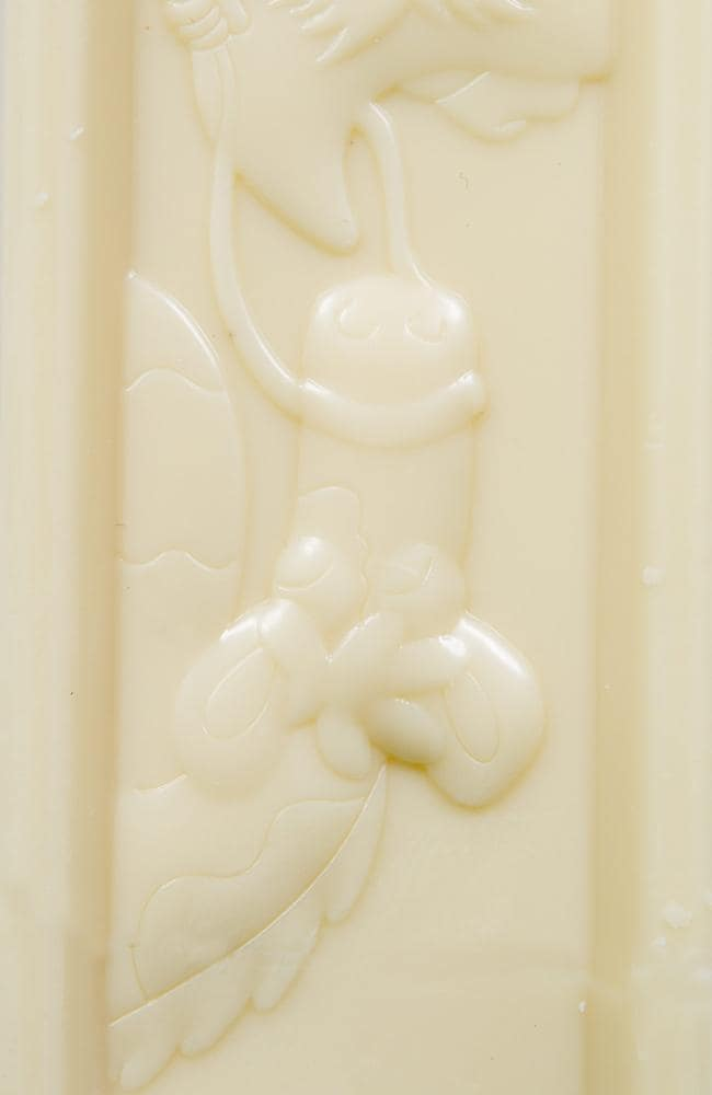 A chocolate fan was left stunned after discovering this Milky Bar had a rather odd shape imprinted into it.