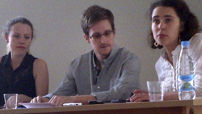 Snowden at a press conference in Moscow's Sheremetyevo Airport. Photo: AP