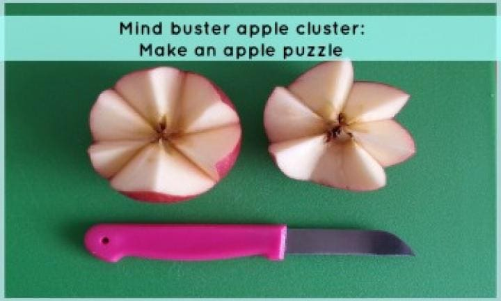 Mind buster apple cluster: Make an apple puzzle