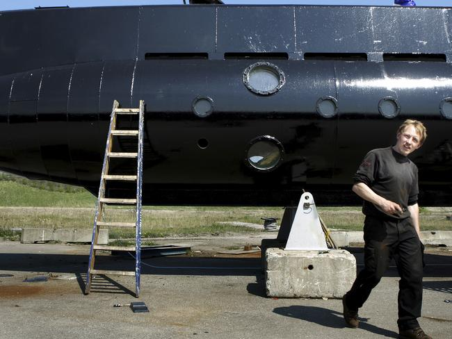 Peter Madsen in 2008 with a submarine. Picture: Niels Hougaard /Ritzau. File via AP.