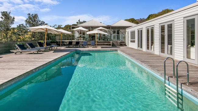 Relax in the lap of luxury at 20 Paringa Rd, Portsea, which is currently on the market.