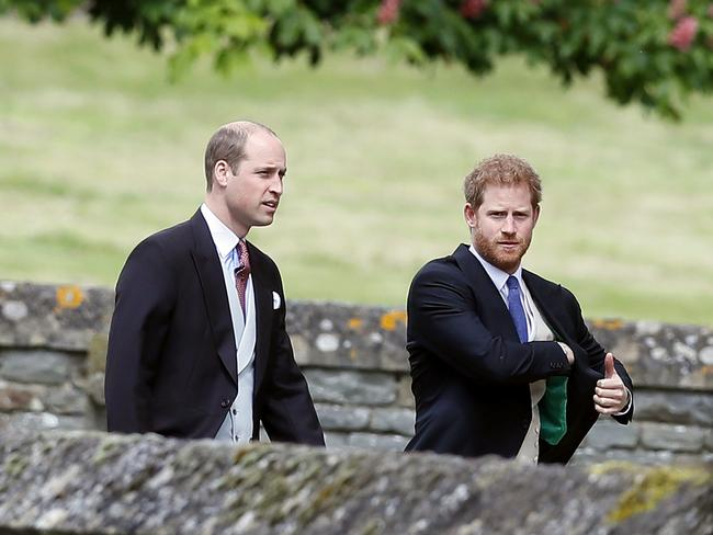 Prince William and Prince Harry arrive for the wedding of Pippa and James.
