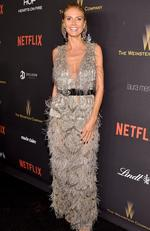 Model Heidi Klum attends The Weinstein Company and Netflix Golden Globe Party, presented with DeLeon Tequila, Laura Mercier, Lindt Chocolate, Marie Claire and Hearts On Fire at The Beverly Hilton Hotel on January 10, 2016 in Beverly Hills, California. (Photo by Mike Windle/Getty Images for The Weinstein Company)
