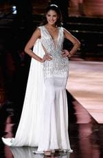 Miss Thailand 2015, Aniporn Chalermburanawong, competes in the evening gown competition during the 2015 Miss Universe Pageant on December 20, 2015 in Las Vegas. Picture: Getty