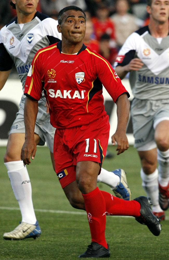 Romario in action for Adelaide United.