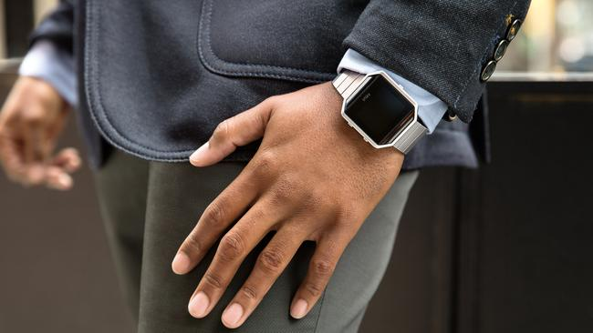 Customisable ... The Fitbit Blaze will be available with different bands.