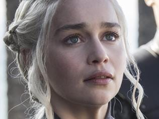 Emilia Clarke as Daenerys in Game of Thrones season 7 episode one