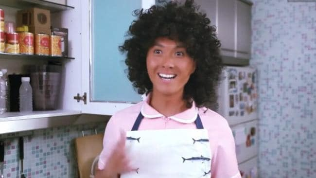 'Maria' the Filipino maid is actually a Chinese actor in blackface.