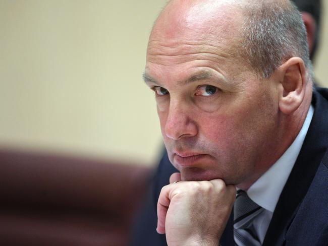 President of the Senate Stephen Parry is set to resign today. Picture: AAP