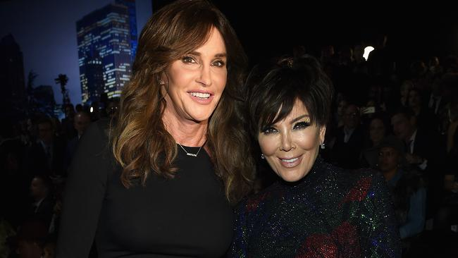 Caitlyn Jenner and Kris Jenner at the 2015 Victoria's Secret Fashion Show.