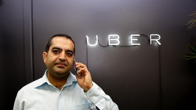 Uber driver Deepak Chugh at the Uber HQ, the ride-sharing service has been given the green light but under several conditions.
