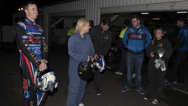 The Telegraph GP winners share a laugh with Mark Winterbottom