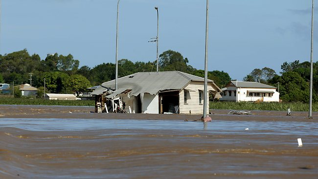 This house floated from North Bundaberg and ended up in Queen St. Pic Mark Calleja